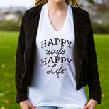 Happy Wife Happy Life Tshirt - Tickled Teal LLC