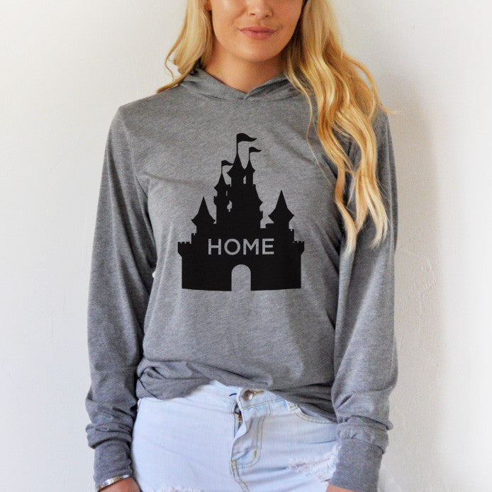 Home Castle Graphic Hoodie - Tickled Teal LLC