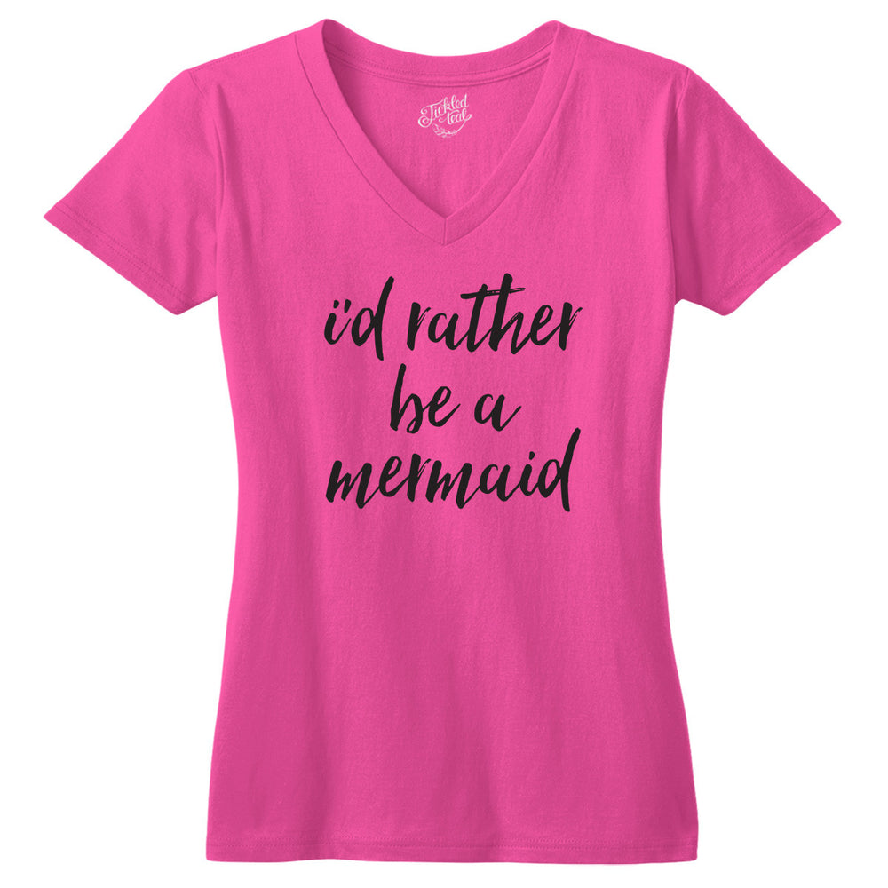 I'd rather Be A Mermaid Tshirt - Tickled Teal LLC