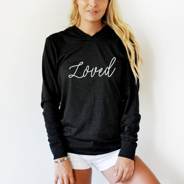 Loved Graphic Hoodie - Tickled Teal LLC
