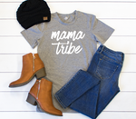 Mama Tribe Crew Neck Tee - Tickled Teal LLC