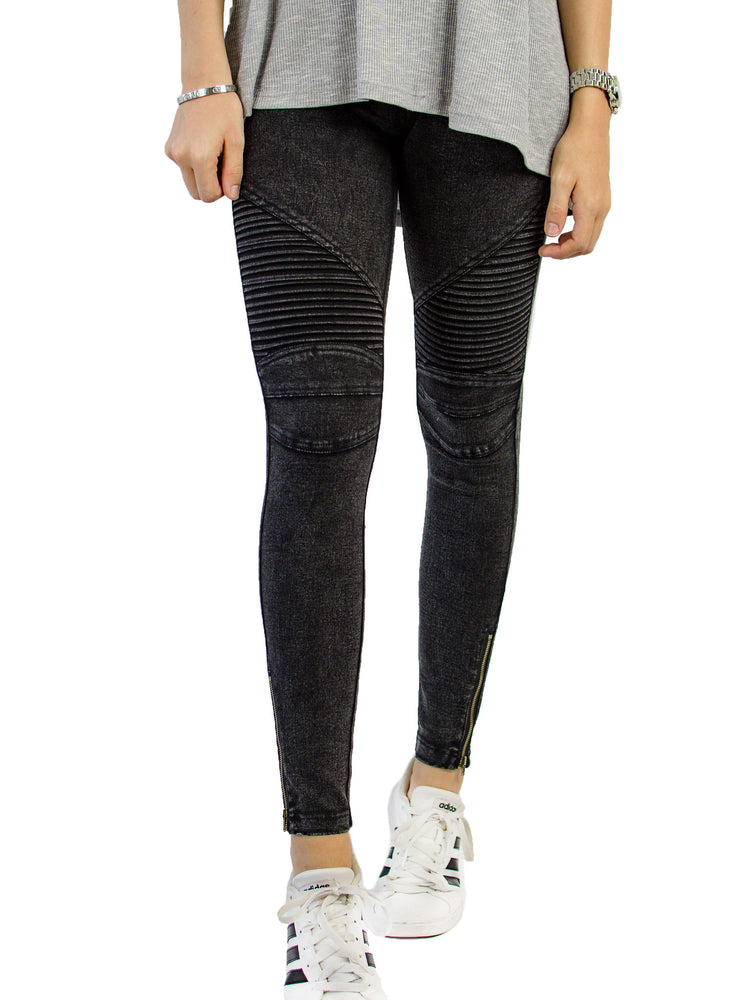 Moto Jegging - Black - Tickled Teal LLC