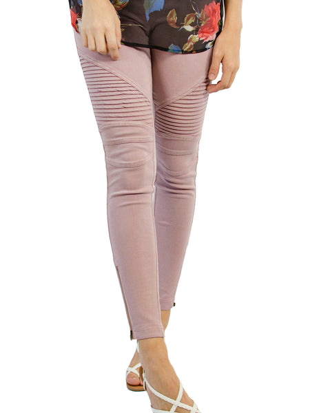 Moto Jegging - Dusty Pink
