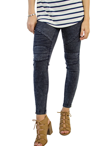 Moto Jegging - Navy - Tickled Teal LLC