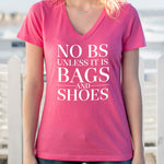 No BS Unless It's Bags and Shoes Tshirt - Tickled Teal LLC