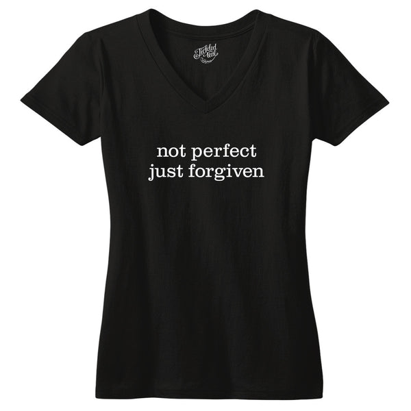 Not Perfect Just Forgiven Tshirt - Tickled Teal LLC