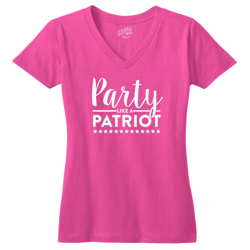 Party Like a Patriot Tshirt - Tickled Teal LLC