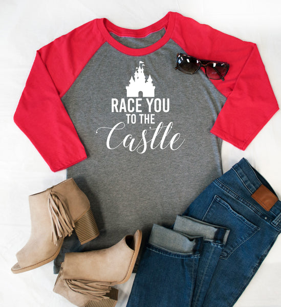 Race you to the Castle Raglan Tee - Tickled Teal LLC