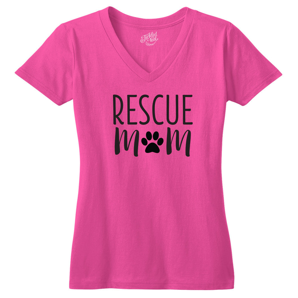 Rescue Mom Tshirt - Tickled Teal LLC