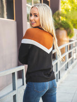 The Phoenix Sweater - Clay/Black