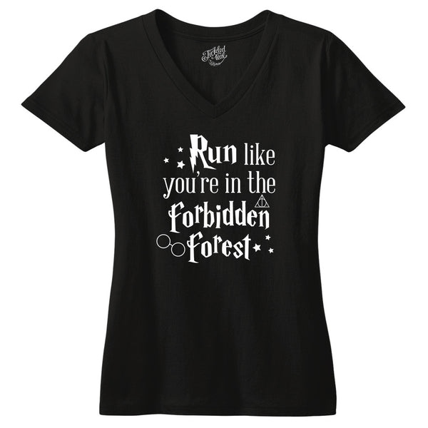 Run Like You're in the Forbidden Forest Tshirt - Tickled Teal LLC