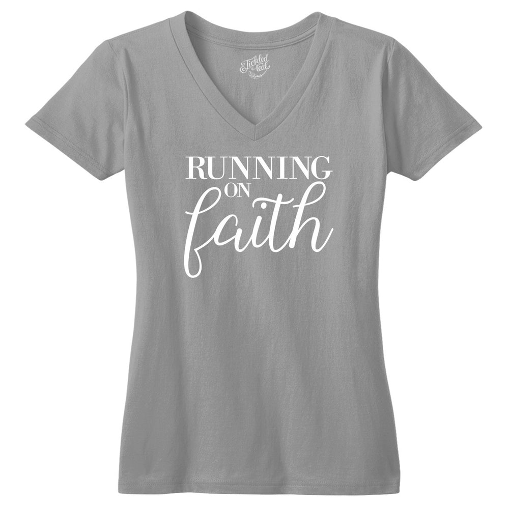 Running on Faith Tshirt - Tickled Teal LLC