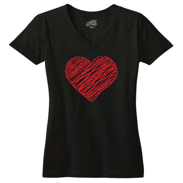 Scribble Heart Tshirt - Tickled Teal LLC