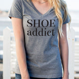 Shoe Addict Tshirt - Tickled Teal LLC