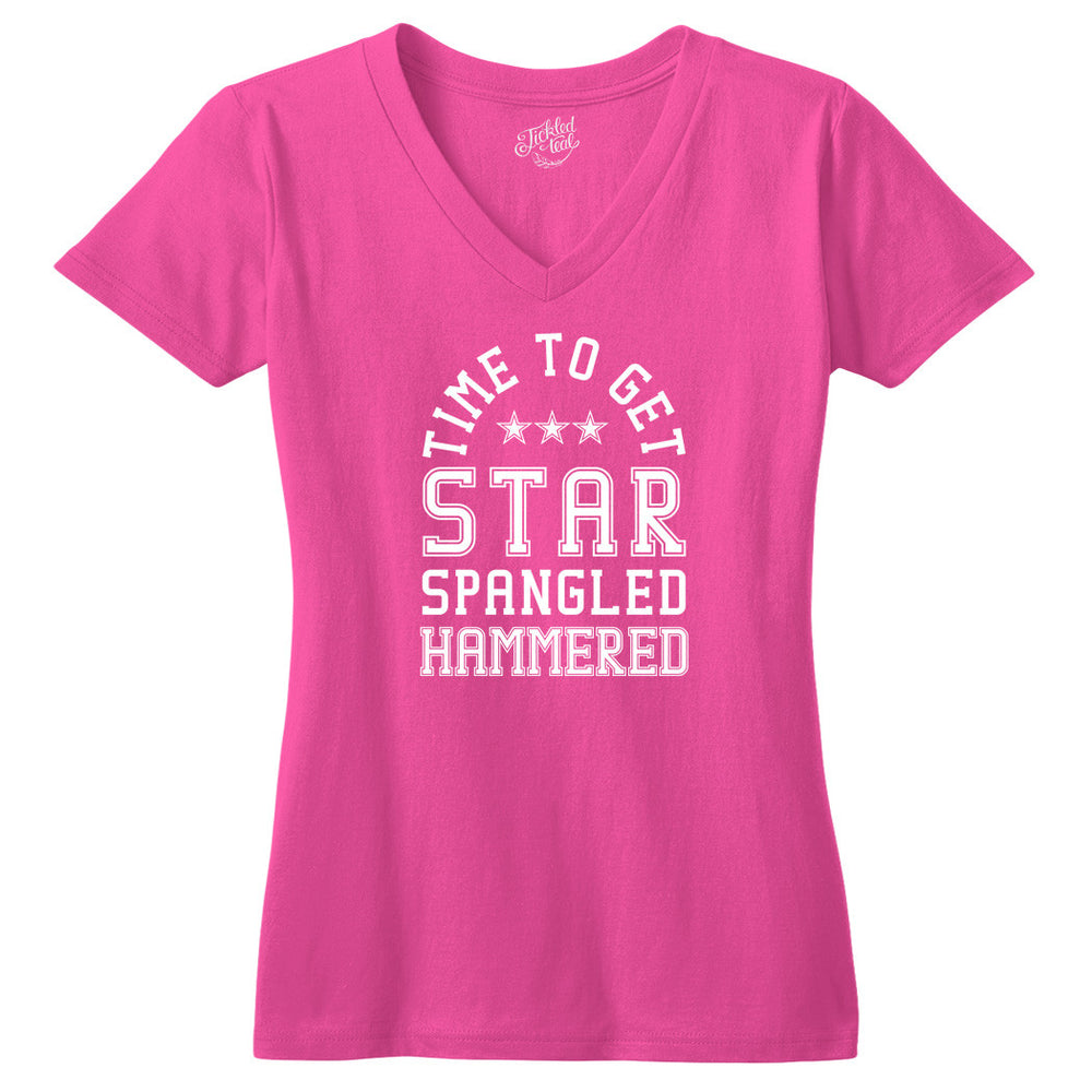 Time To Get Star Spangled Hammered Tshirt - Tickled Teal LLC