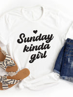 Sunday Kinda Girl Graphic Tee