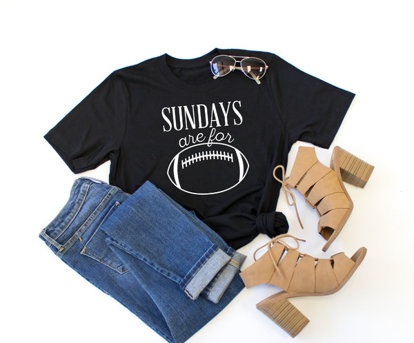 Sundays are for Football Crew Neck Tee - Tickled Teal LLC