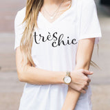 Tres Chic Tshirt - Tickled Teal LLC