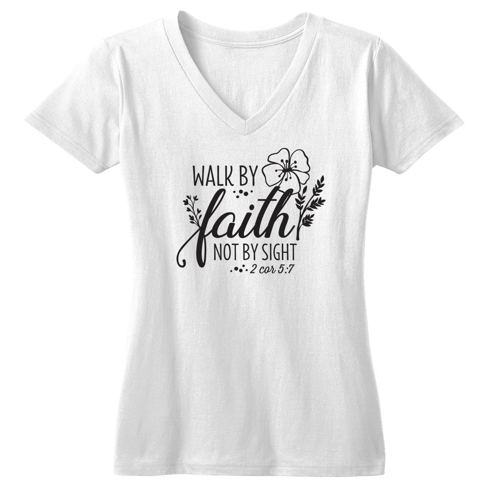 Walk by Faith not by Sight Tshirt - Tickled Teal LLC