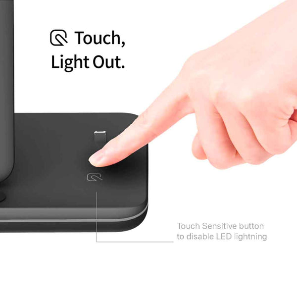 Charge-dock-black-touch-sensitive-light-off