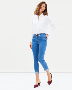 Load image into Gallery viewer, The 7/8 Skinny Jean - Charlotte Blue