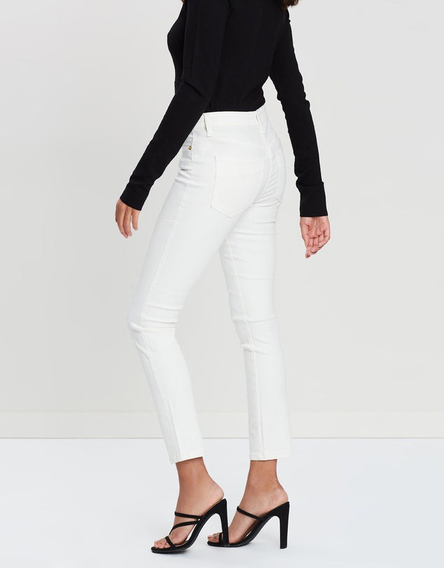 The Straight Skinny 7/8 Jean - Off White