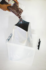 Mylar bag 8.7 liters (35x42 cm) standing bag with ziplock, 10 pack