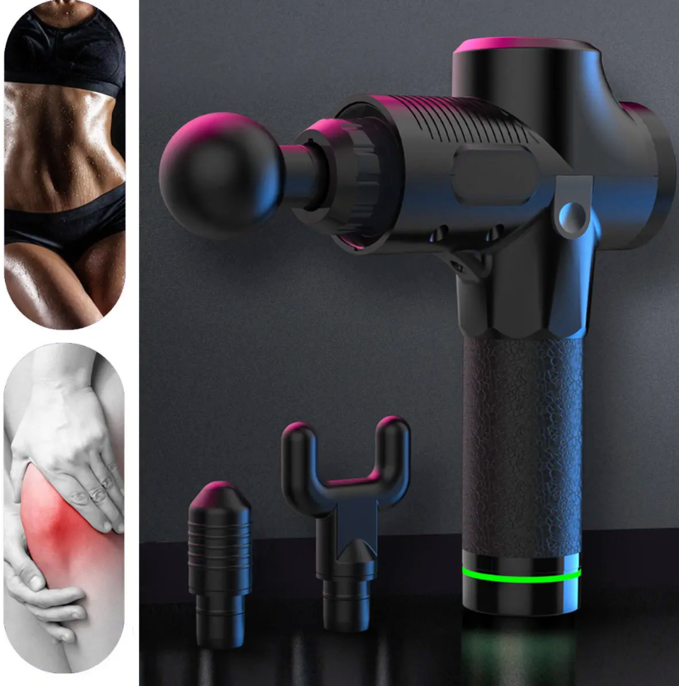 Electric Handheld Muscle Massage Gun |Deep tissue Relaxing Stimulator | 4 In One | 30 Speed settings