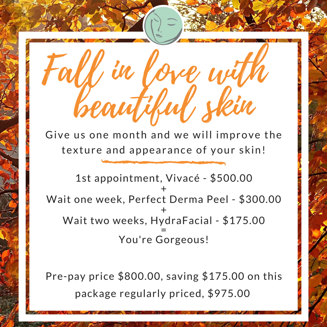 Fall into beautiful skin package.