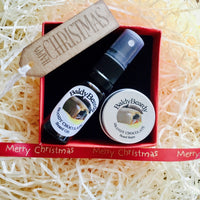 Christmas gift box by BaldyBeardy with atomiser spray lid