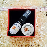 Cinnamon and Vanilla Christmas gift box by BaldyBeardy with atomiser spray lid