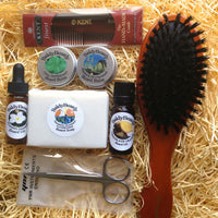 Complete men's beard grooming gift set package by BaldyBeardy