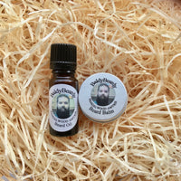 Sandalwood Amyris beard oil and balm combination pack with dropper lid by BaldyBeardy