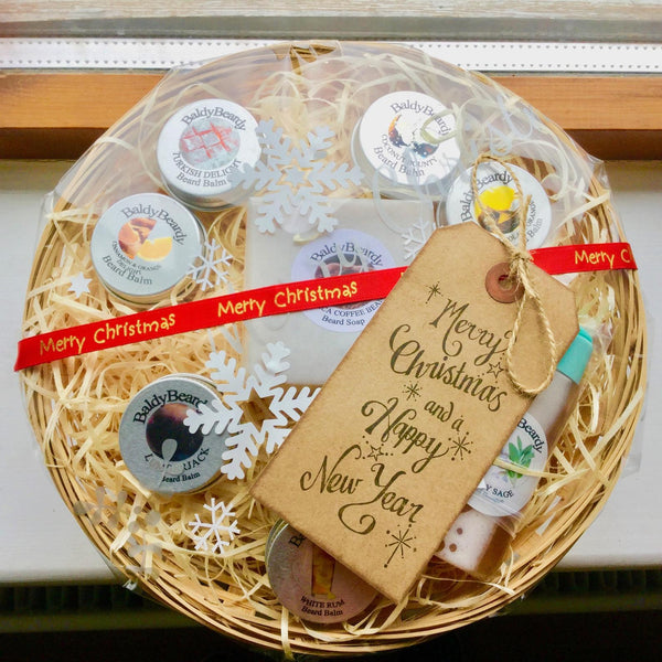 BaldyBeardy Christmas gift basket for man with beard
