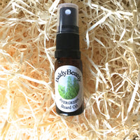 Evergreen beard oil by BaldyBeardy with atomiser spray lid