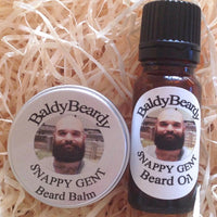 Snappy Gent beard oil and balm combination pack by BaldyBeardy