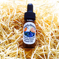 Tangerine, Grapefruit and Juniper Berry beard oil by BaldyBeardy with pipette lid