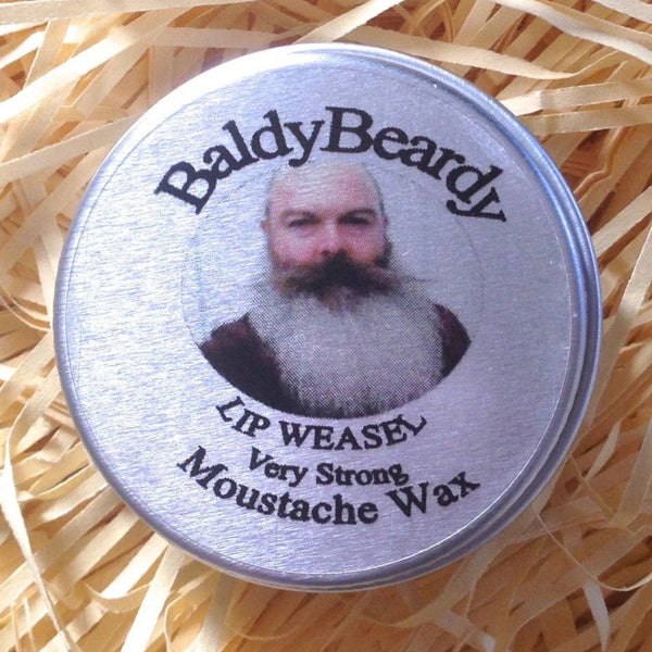 Lip Weasel very strong moustache wax by BaldyBeardy