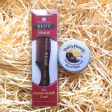 Beard balm and Kent beard comb combination package by BaldyBeardy