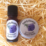 Lavender beard oil and balm combination pack by BaldyBeardy