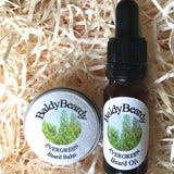 Evergreen beard oil and balm combination pack by BaldyBeardy