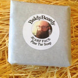 Scarf Face Pine Tar beard soap by BaldyBeardy