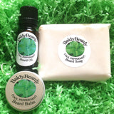 Cool Peppermint beard oil, balm and soap combination package by BaldyBeardy