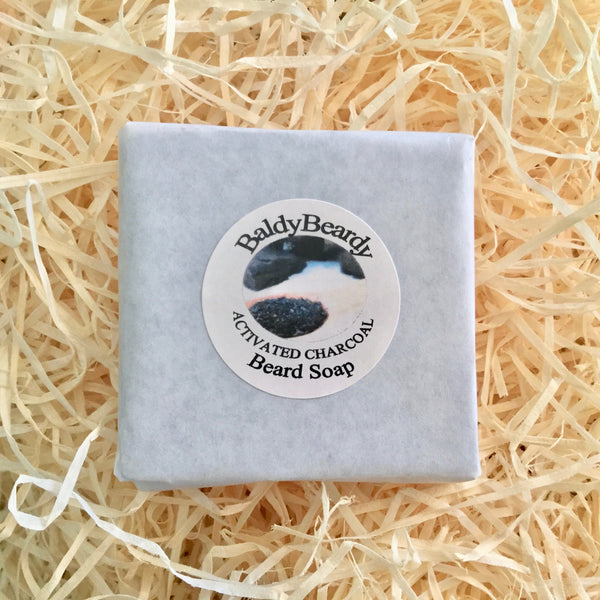Activated Charcoal beard soap by BaldyBeardy
