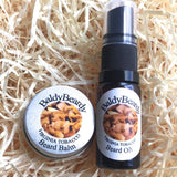 Virginia Tobacco beard oil and balm combination pack by BaldyBeardy with atomiser spray lid