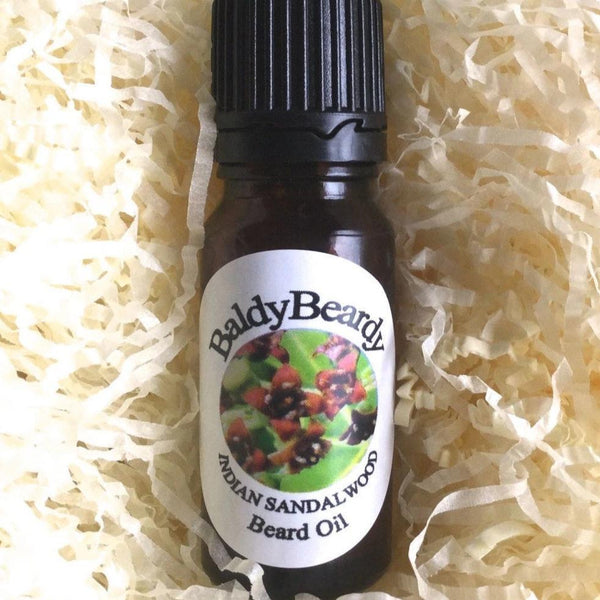 Indian Sandalwood beard oil by BaldyBeardy