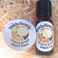 Citrus Burst beard oil and balm combination pack by BaldyBeardy