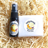 Citrus Burst beard oil and soap combination pack by BaldyBeardy with atomiser spray lid