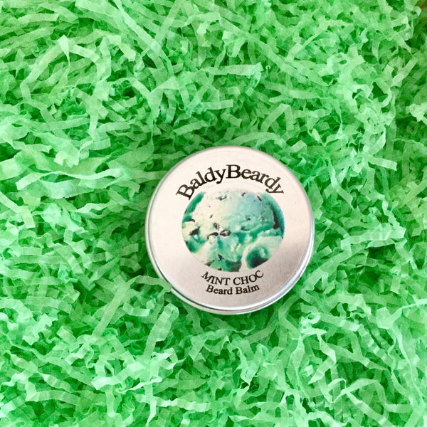 Mint Choc beard balm by BaldyBeardy