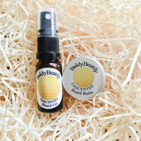 Unscented beard oil balm combination pack by BaldyBeardy with atomiser spray lid